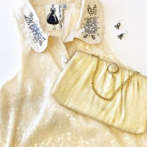 Sleeveless full sequined party dress